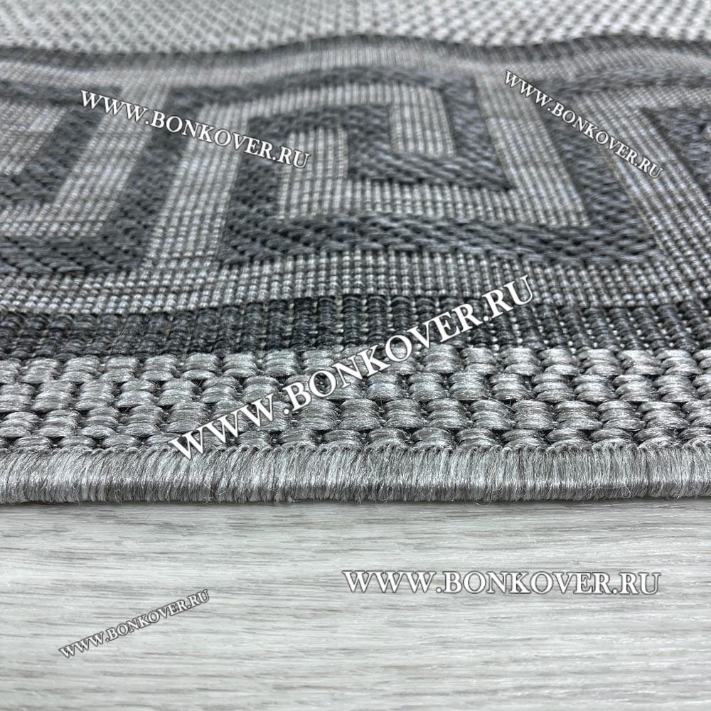 Безворсовый Ковер Дизайн 13 Серый Прямоугольный