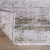 Высокоплотный Премиальный Ковер из вискозы Дизайн 06 Зеленый с Бежевым Овальный