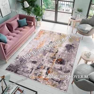 Ковер Лофт Для Гостиной Дизайн 09 Серый Разноцветный